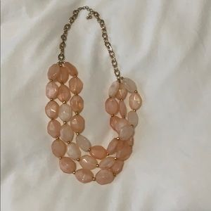 Pink and Gold 3 Tier Statement Necklace
